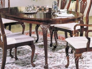 Acme Queen Anne Centennial Oval Dining Table In Cherry 02922 By Rooms Outlet