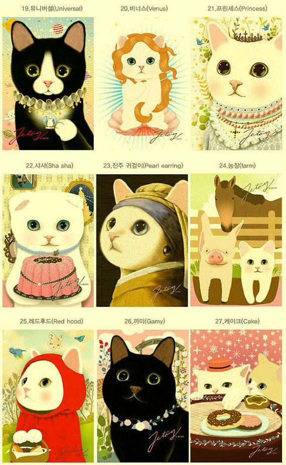 :): Cat Art, Cat Pics, Japanese Illustration, Art Drawings, Cat Cards, Red Riding Hoods, Funny Photo, Hate Cat, Black Cat