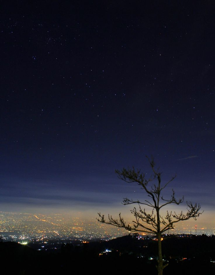 Bandung night view, taken from Bukit Moko, Bandung, West Java -Indonesia