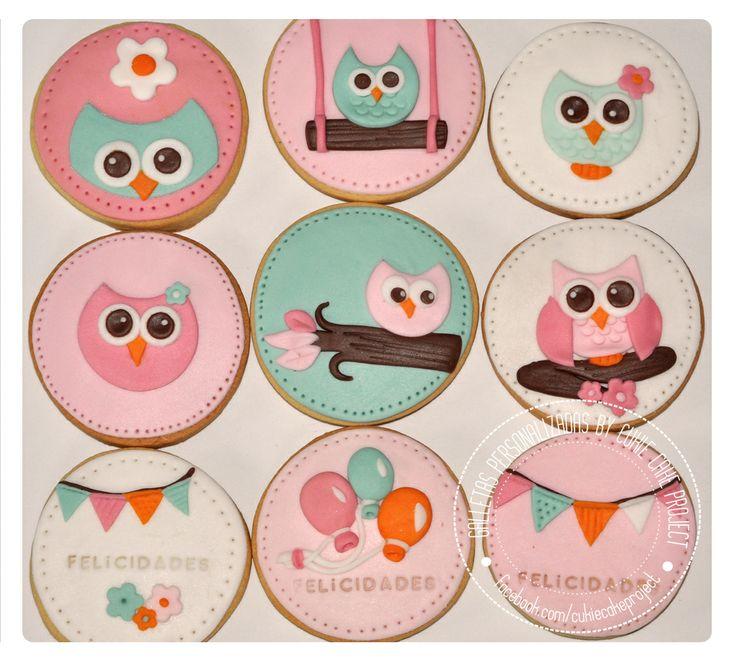 Galletas decoradas de búhos / Owl Cookies