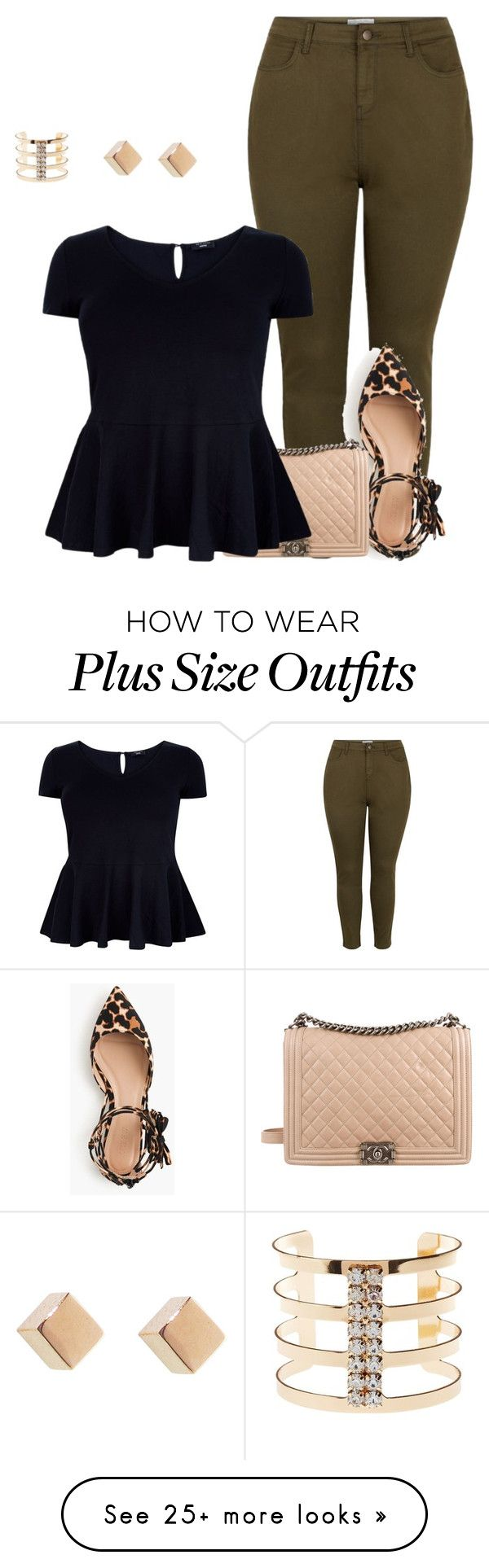 """plus size simple and cute lk/work or date"" by kristie-payne on Polyvore featuring J.Crew, Chanel and Charlotte Russe"