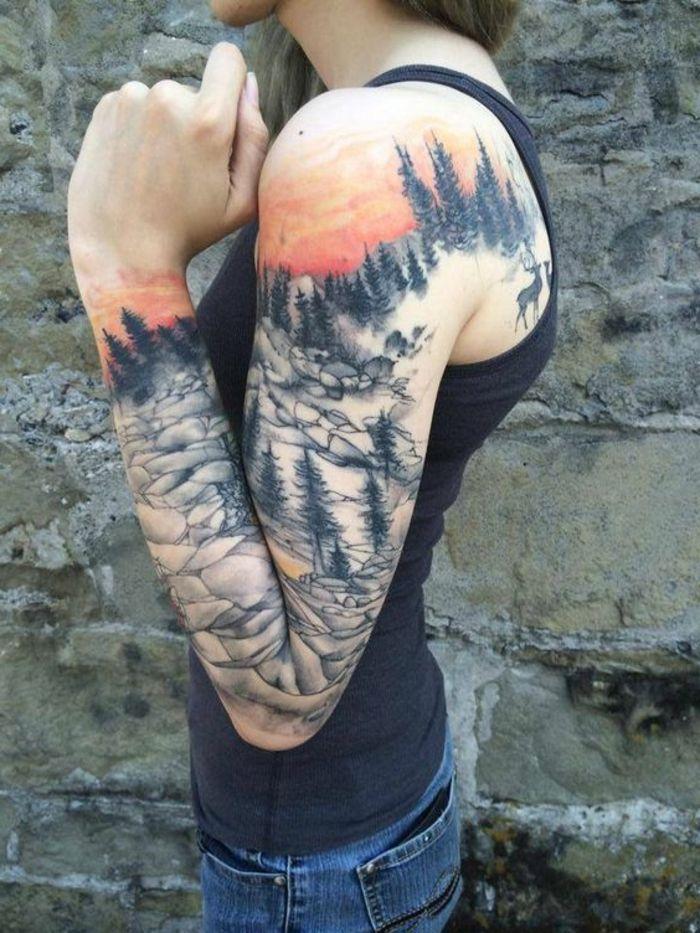 les 25 meilleures id es de la cat gorie tatouages de coucher de soleil sur pinterest tatouage. Black Bedroom Furniture Sets. Home Design Ideas