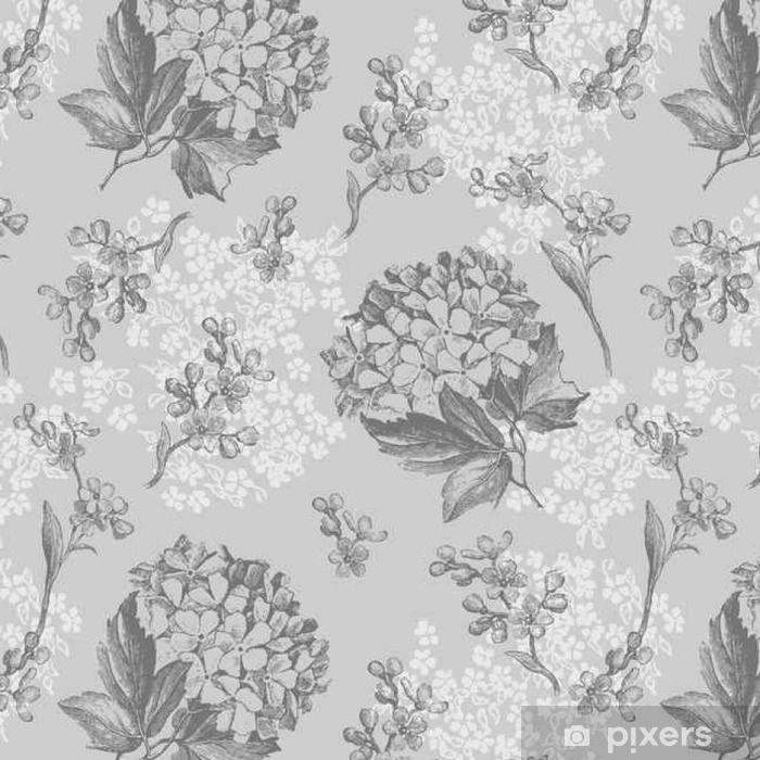 Tapeta Szare Kwiaty Wzor Pixers Zyjemy By Zmieniac Floral Wallpaper Baby Photography Backdrop Photography Backdrops