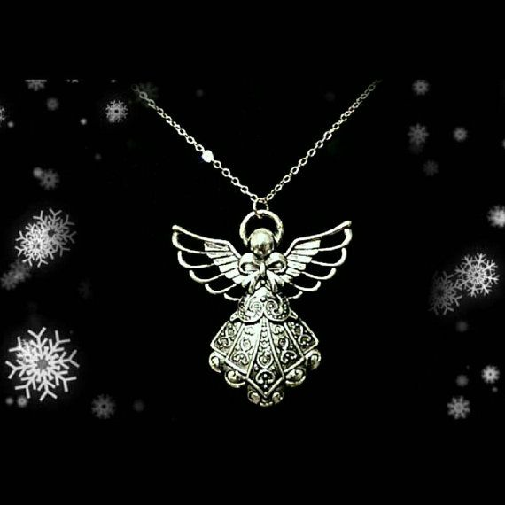 Check out this item in my Etsy shop https://www.etsy.com/uk/listing/490612011/handmade-christmas-angel-necklace