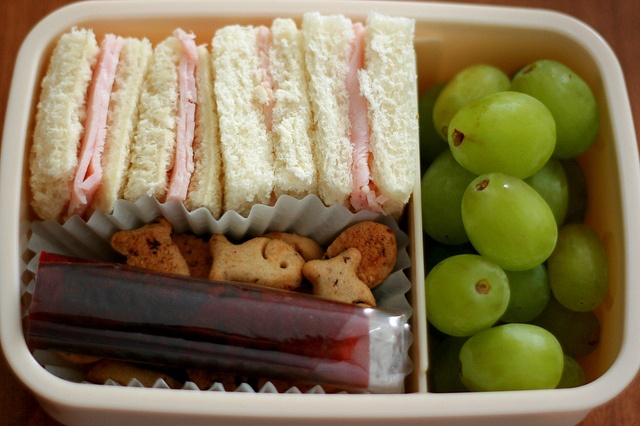 Bento Lunch. I could easily use my one tier box for something like this.