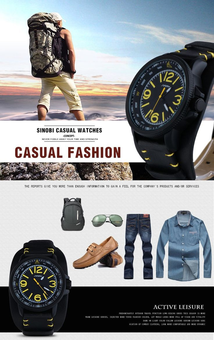Famous Brand SINOBI 2016 New relogio masculino Casual Fashion Military Men Quartz Watch young Sport Climbing Athletic black Rubber runner yellow time