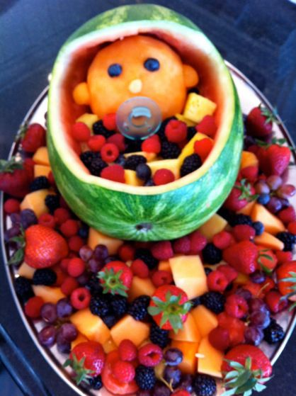 Baby Shower Fruit Bowl   Click On Picture For More Baby Shower Ideas