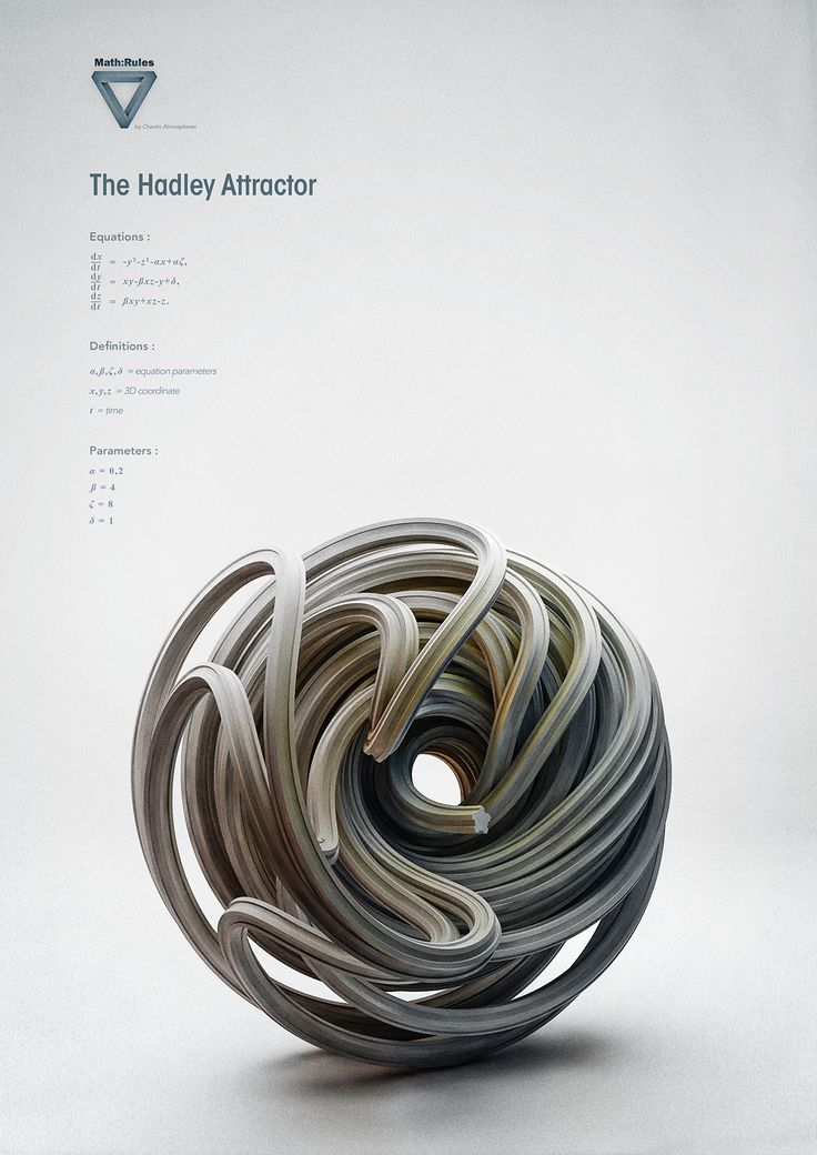 Math:Rules - Strange Attractors http://chaoticatmospheres.com/