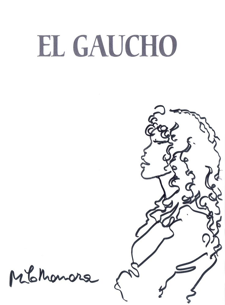 MANARA: EL GAUCHO sketch Comic Art