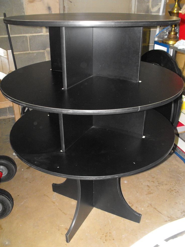 Retail 3 tier display black in great condition $300