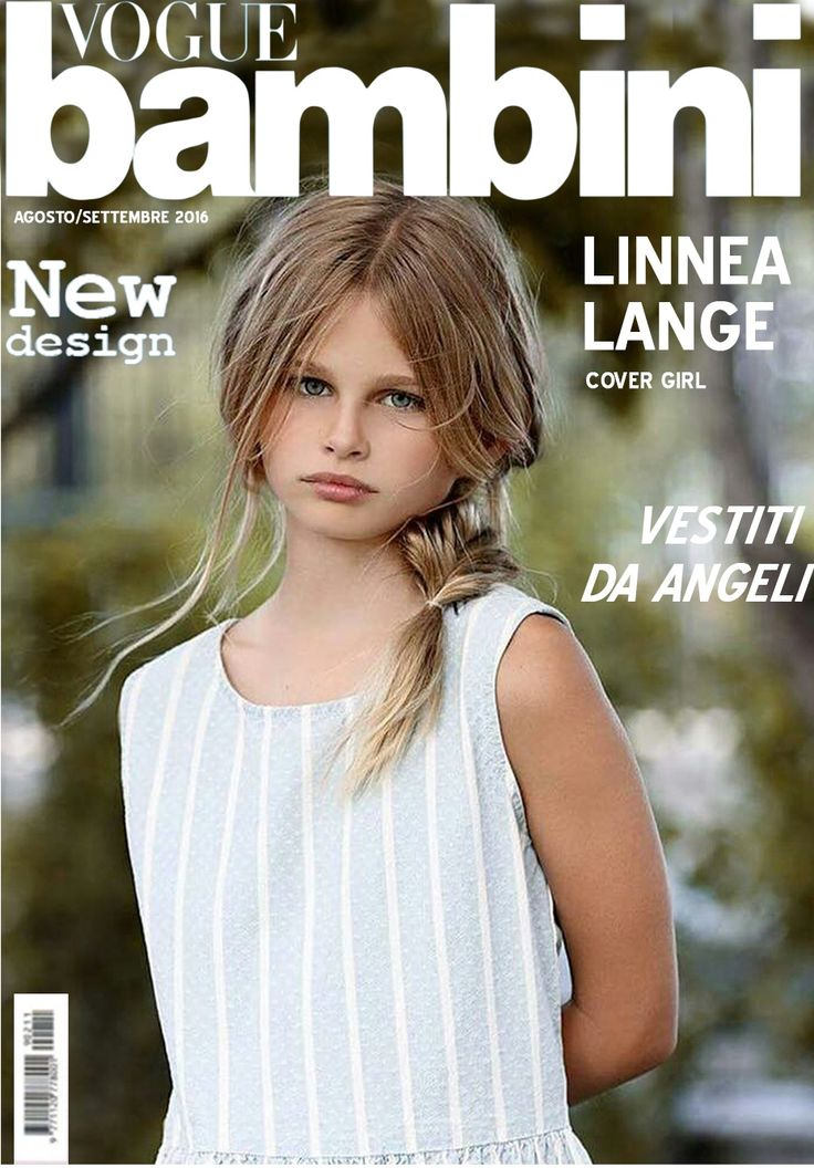 Linnea Lange on Vogue Bambini Magazine cover.