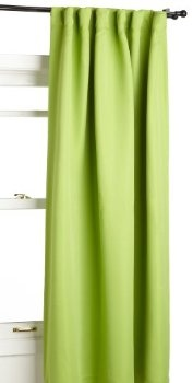 Lime green curtain option for family room