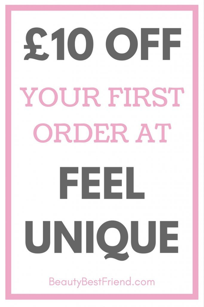 Want £10 OFF your first order at Feel Unique? Find out how to claim in my latest post. Money off | discount | Feel Unique discount code | Feel Unique voucher code | money off make up | money off skincare | save money