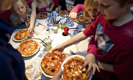 Pizza Express makes no secret of the fact it uses halal chicken on its website. Photograph: Amit Lennon for the Guardian