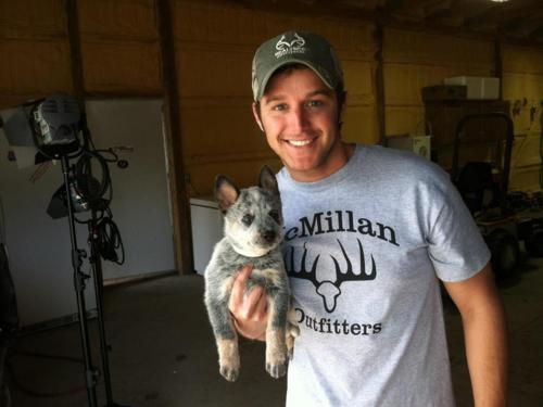 Easton Corbin... AND a heeler pup. Pretty sure this picture couldn't be any cuter!
