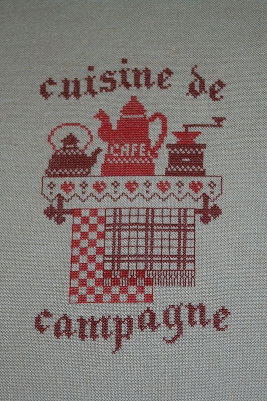 78 best point de croix images on pinterest crossstitch - Point de croix cuisine ...