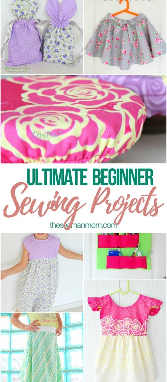 The ultimate collection of beginner sewing projects to try right now! Great for …