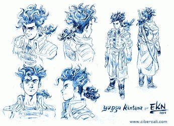 Diseño de Personaje. Yugga Kintana, protagonista de +Cibercali Comics Google+