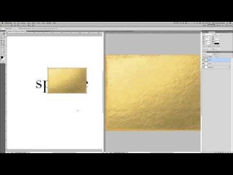 Creating Gold Foil Text in Photoshop | A video tutorial from The Modern Collective