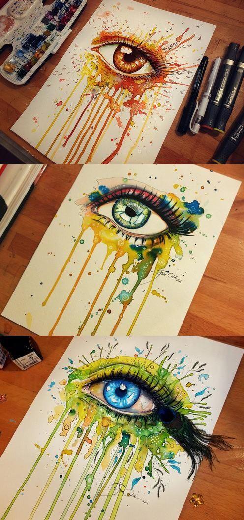 Eye paintings // Svenja Jödicke