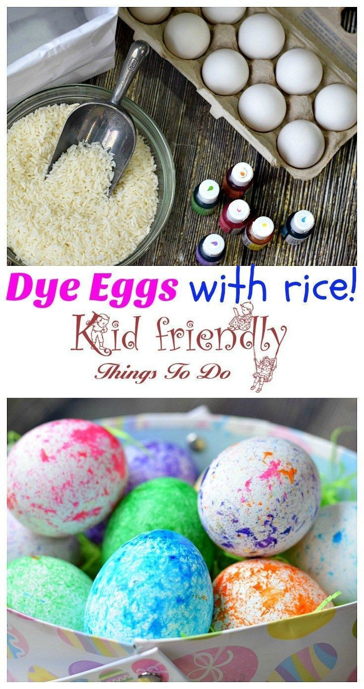 How to Use RICE To Dye Easter Eggs (Super Fun and Easy!) - perfect for preschool kids and big kids. Teens will love this DIY! so easy to clean up! love this! http://www.kidfriendlythingstodo.com