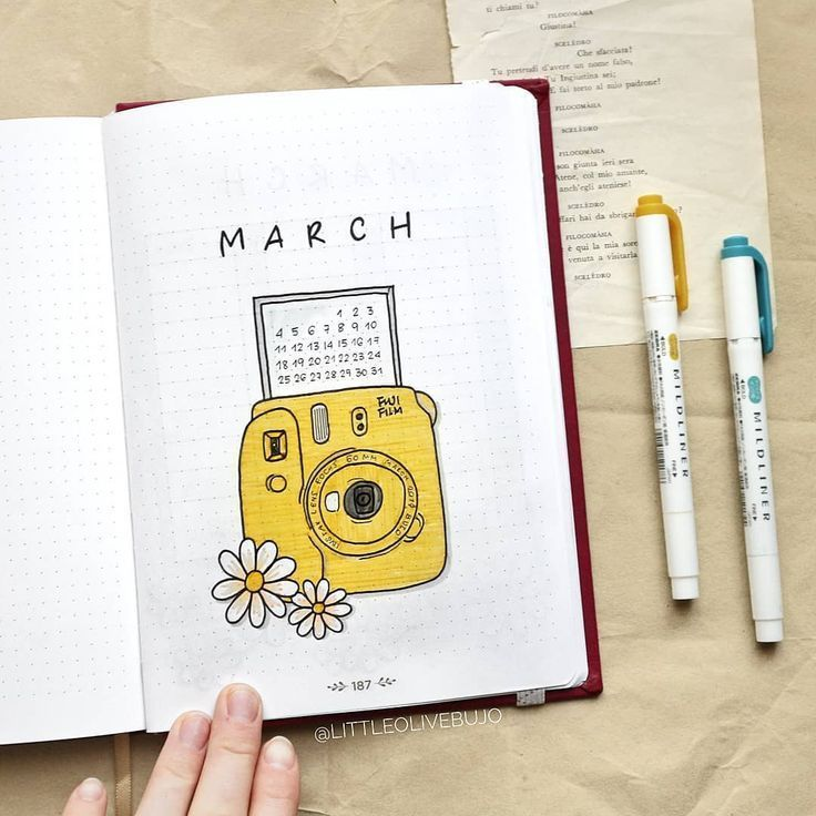 "Viola | Bullet Journal on Instagram: ""HELLO MARCH!…"