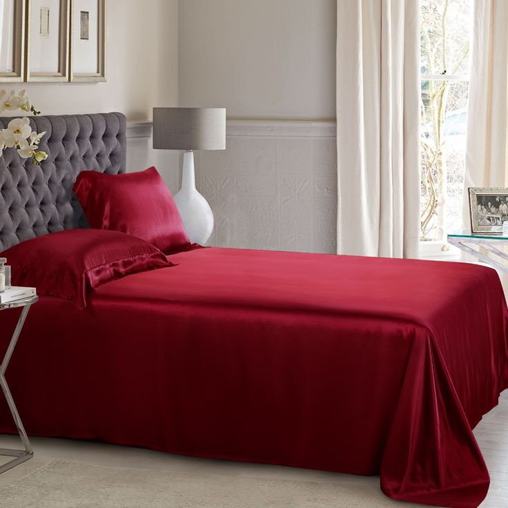 Claret Silk Flat Sheet will provide you the ultimate sleeping experience. Incredibly soft and comfortable.
