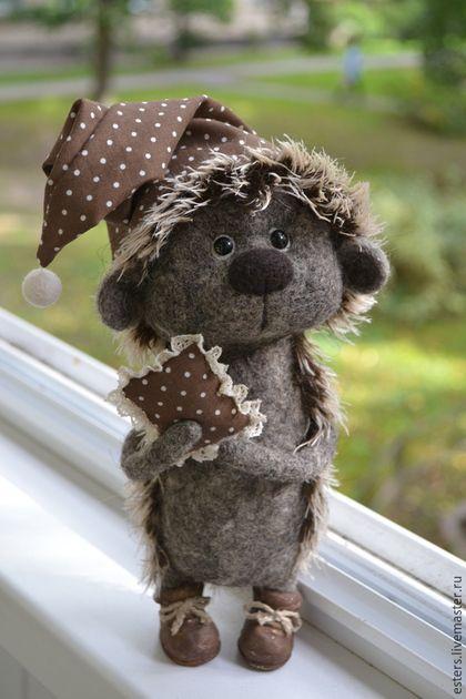 Купить или заказать Ежик для Айны в интернет-магазине на Ярмарке Мастеров. Ежик сделан на заказ для Айны.