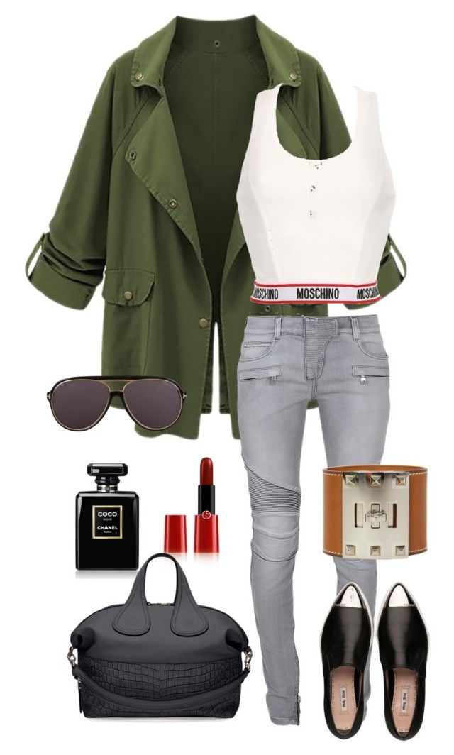 untitled#2 by queencarlina on Polyvore featuring polyvore, fashion, style, Moschino, Balmain, Miu Miu, Givenchy, Tom Ford, Giorgio Armani, Chanel and Hermès
