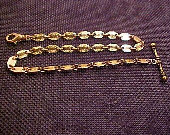 """Pocket Watch Chain,Polished and Hammered links 12 3/4"""" lon. FREE shipping in the United Sates."""