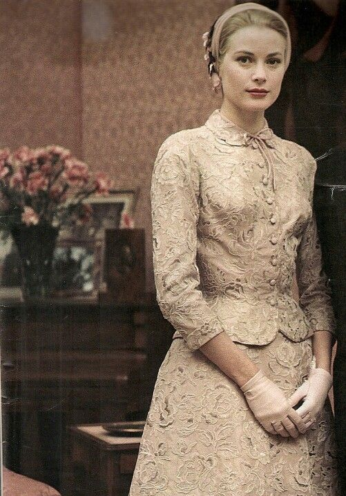 civil wedding suit grace kelly