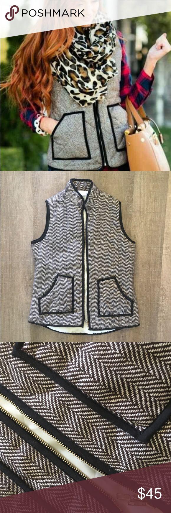 Hemline Mom Herringbone Vest Size Large  Hemline Mom Herringbone Vest Jackets & Coats Vests
