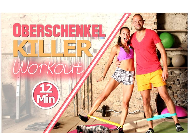 Abnehmen am Oberschenkel - Schlanke Beine - Übungen gegen Reiterhosen - ... (Fitness Routine)
