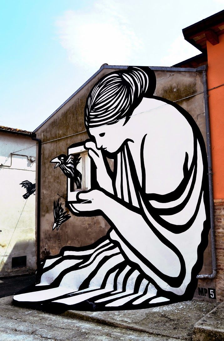 Creative Street Mural by MP5 Spills Over Onto Its Surroundings