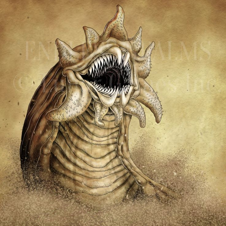 Endless Realms bestiary - Sandworm by jocarra on DeviantArt. Character Art Monsters