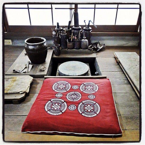 Potters wheel at Ichiyo-gama, Japan.  Photo by Ayumi Horie Pottery.
