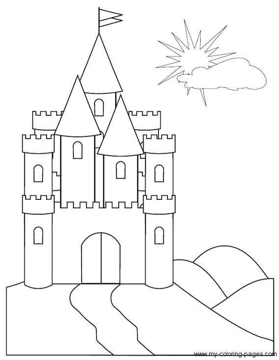 Картинки замки для срисовки, для