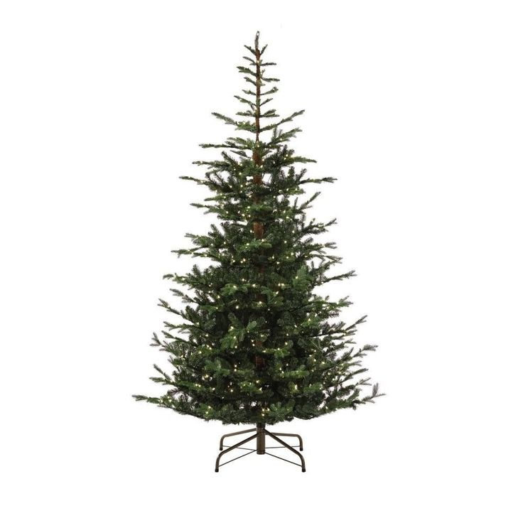 9 ft. Pre-Lit Feel Real Norwegian Spruce Artificial Christmas Tree 700 Lights | eBay