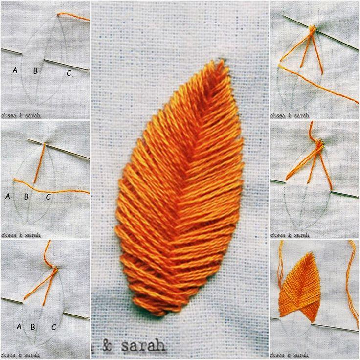 DIY Raised Fishbone Stitch ~ DIY Craft Project