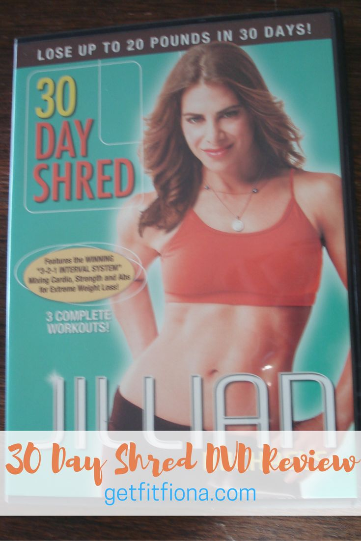 30 day shred dvd review Jillian Michaels level one two three modifications 20 minutes workout workouts warm up cool down