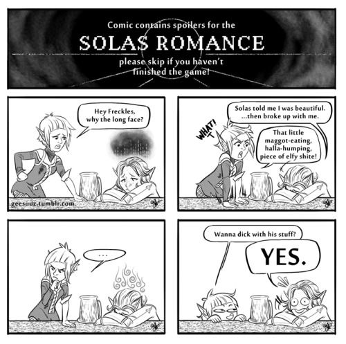 """""""Put this in the game, and people who hate Solas will romance him. I guarantee it. (pt1) (geesuuz)"""""""