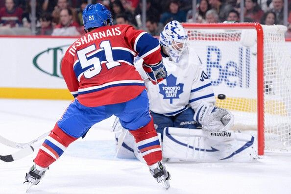 David Desharnais scores on Toronto.