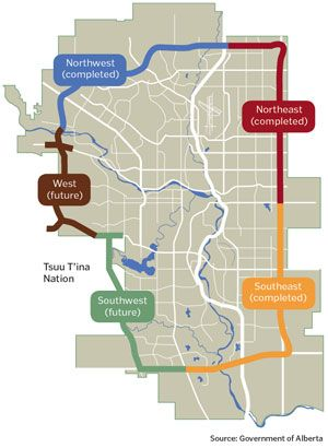 Alberta Transportation expects to start construction on the southwest ring road within the next two years.