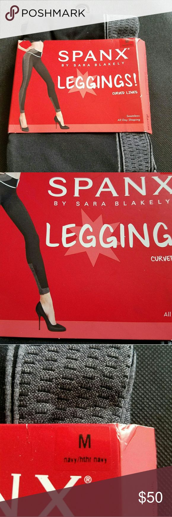 SPANX Leggings Curved Lines Seamless SZ Medium These are are brand new Spanx Leggings   Full Coverage Waistband Flattens stomach   Full length hits ankle   Comfortable Seamless Design   Size Medium   Measurements  Waist_ 31 to 33 inches Hips_38 to 40.5 inches SPANX Pants Leggings