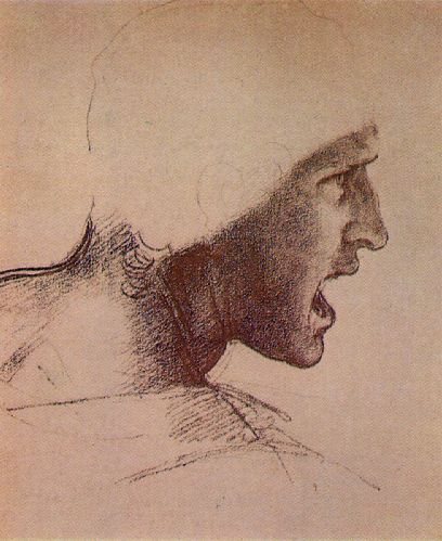 Head of a Warrior by Leonardo da Vinci