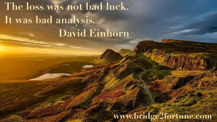 Losing or winning at the stock market has nothing to do with luck. If you lose your money, your analysis was bad. Research well and buy only if you have an outstanding company.