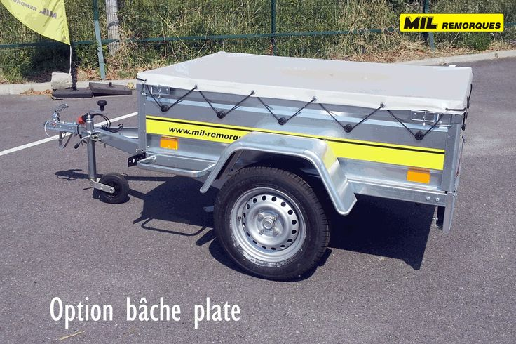 remorque bagagere option bâche plate