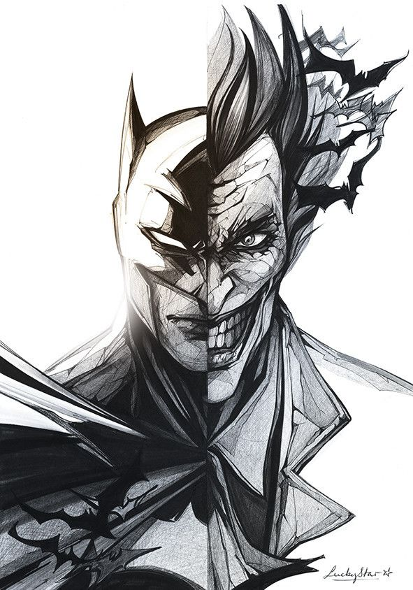 Batman vs The Joker by Lucky Star www.luckystar.fr                                                                                                                                                      More