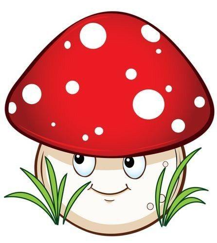 Картинка гриб мухомор мордочками для детей