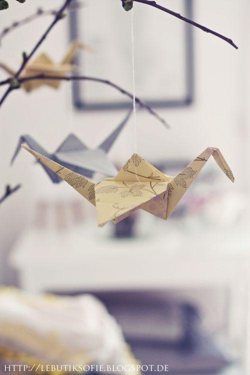 butiksofie: DIY Origami Kraniche.